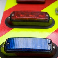 Close up of ambulance lights